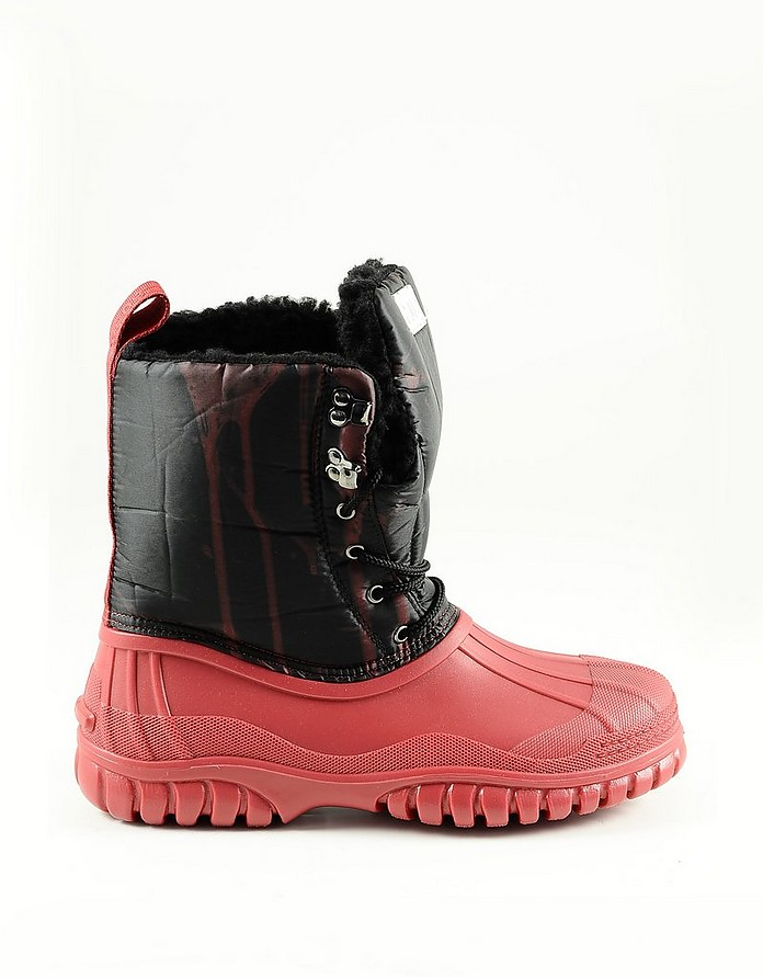 Black and Red Men's Boots - GCDS