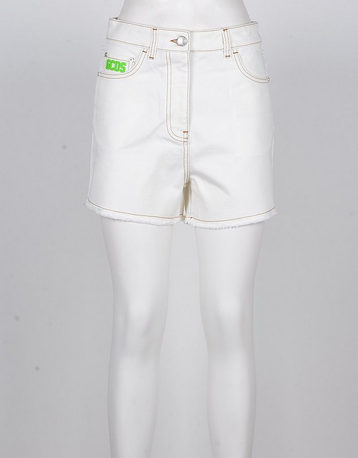 Women's White Shorts - GCDS