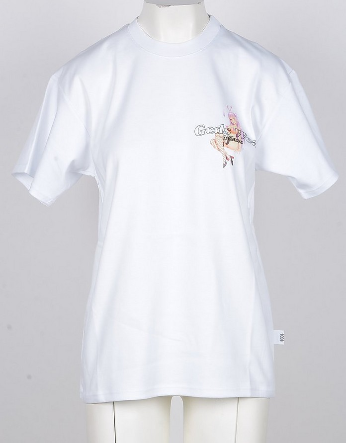 Women's White Tshirt - GCDS