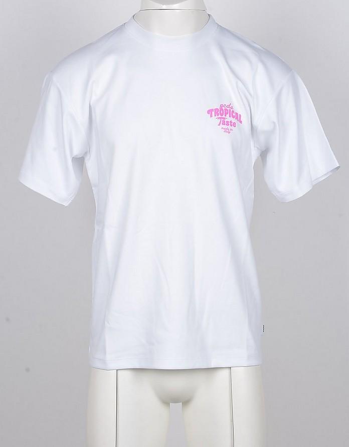 Men's White Tshirt - GCDS