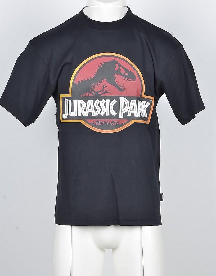 Men's Black Jurassic Park Cotton T-shirt - GCDS