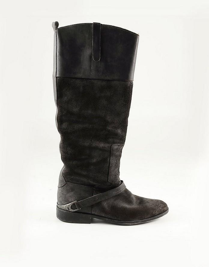 Brown Suede Women's Boots - Golden Goose