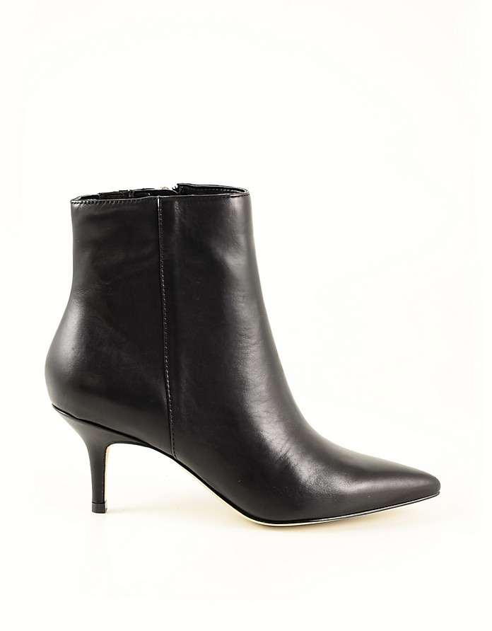 Black Leather Women's Booties - Guess
