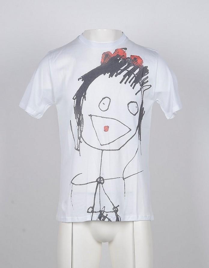 White Cotton Men's T-Shirt - Gazzarrini