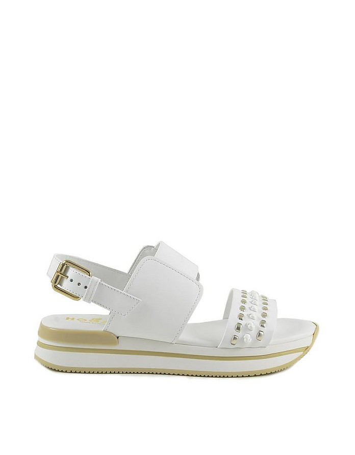 Women's White Sandals - Hogan