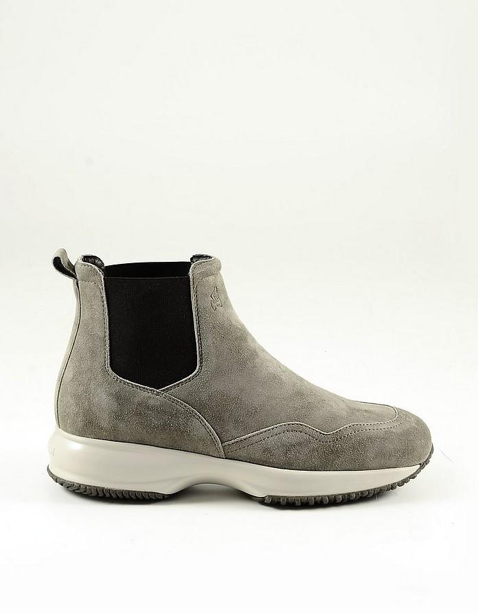 Beige Suede Women's Ankle Boots - Hogan