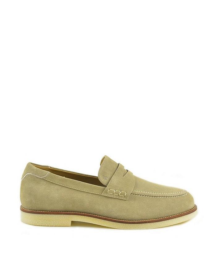 Men's Beige Loafer Shoes - Hogan