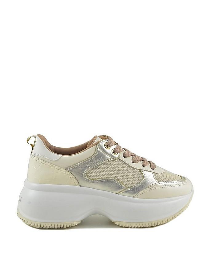 Hogan Women's Bianco/Beige Sneakers 38 IT/EU at FORZIERI