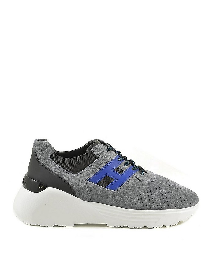 Hogan Men's Blue / Gray Sneakers 39 at FORZIERI