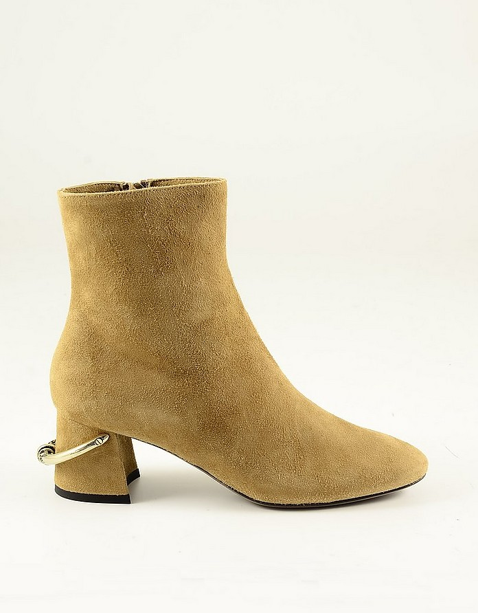 Light Brown Suede Women's Ankle Boots - L'Autre Chose
