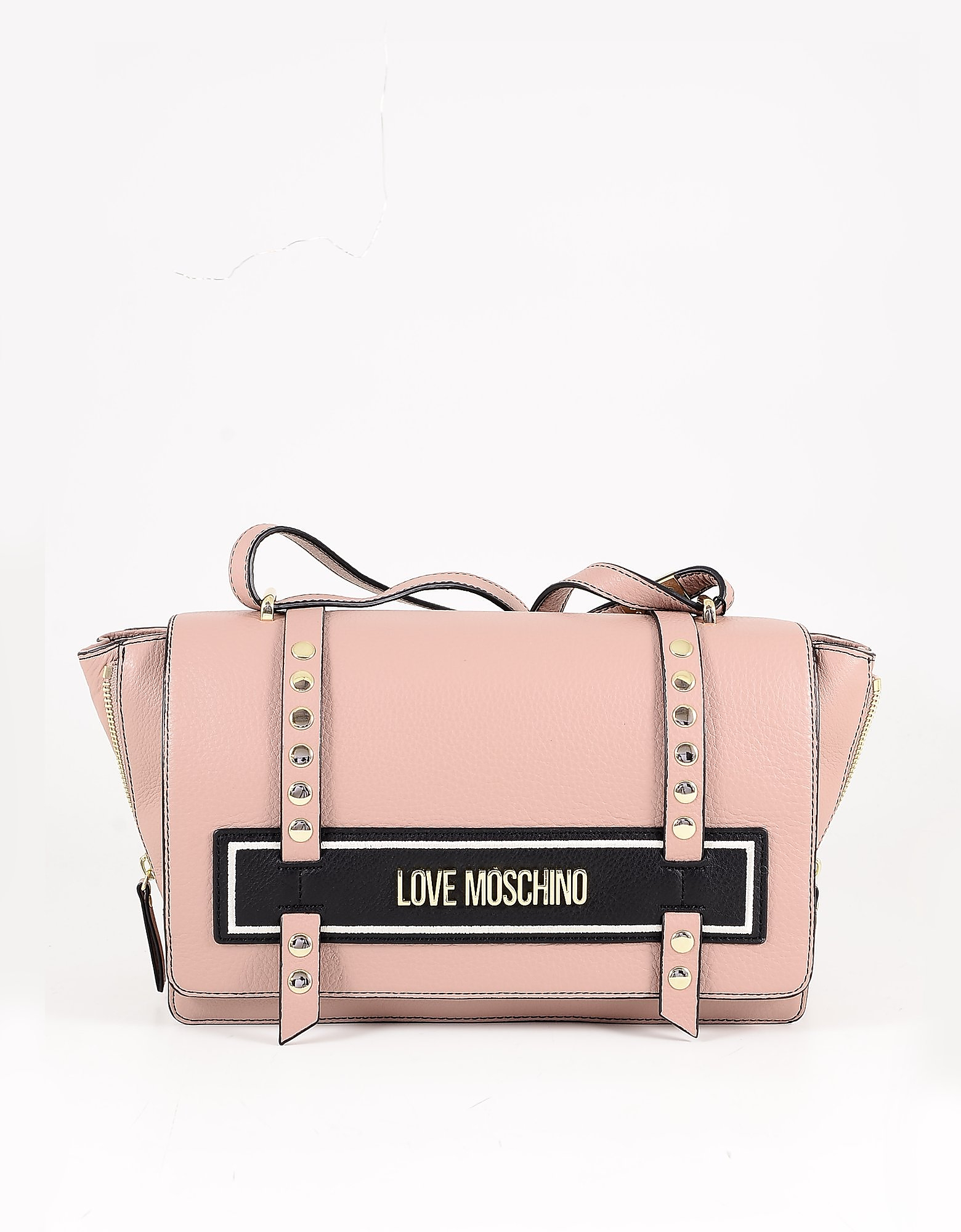 Love Moschino Powder Pink Leather Shoulder Bag