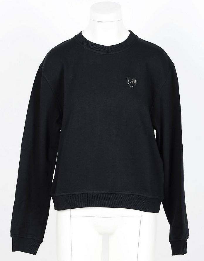 Black Cotton Women's Sweatshirt - Love Moschino
