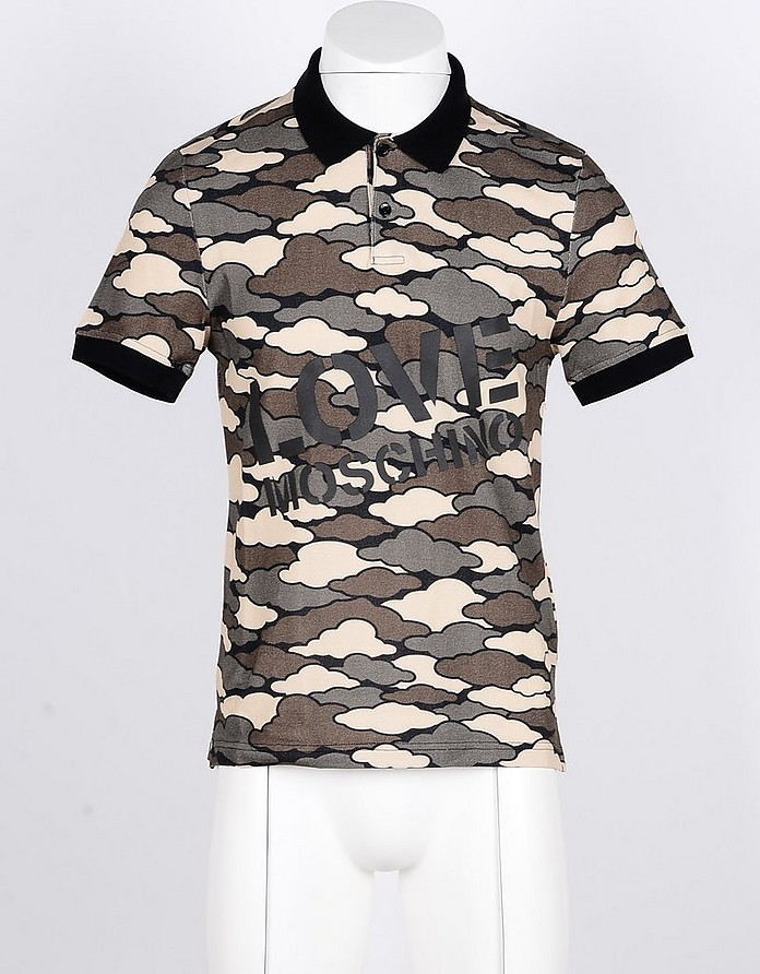 Men's Military Green Shirt - Love Moschino
