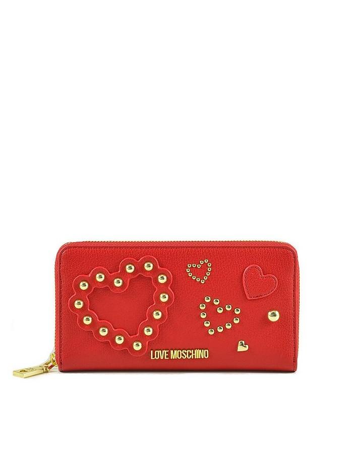 Women's Red Wallet - Love Moschino