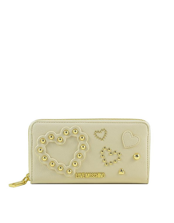 Women's Ivory Wallet - Love Moschino