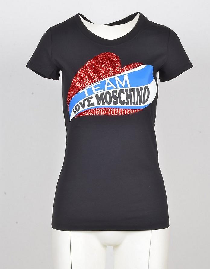 Women's Black Tshirt - Love Moschino