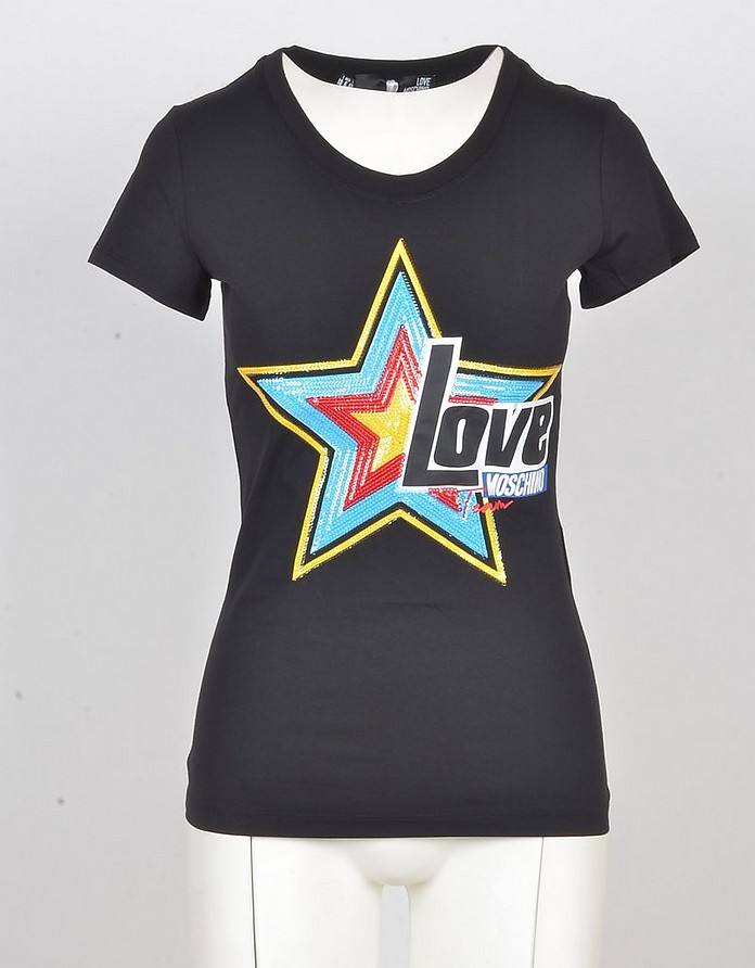 Women's Black Tshirt - Love Moschino