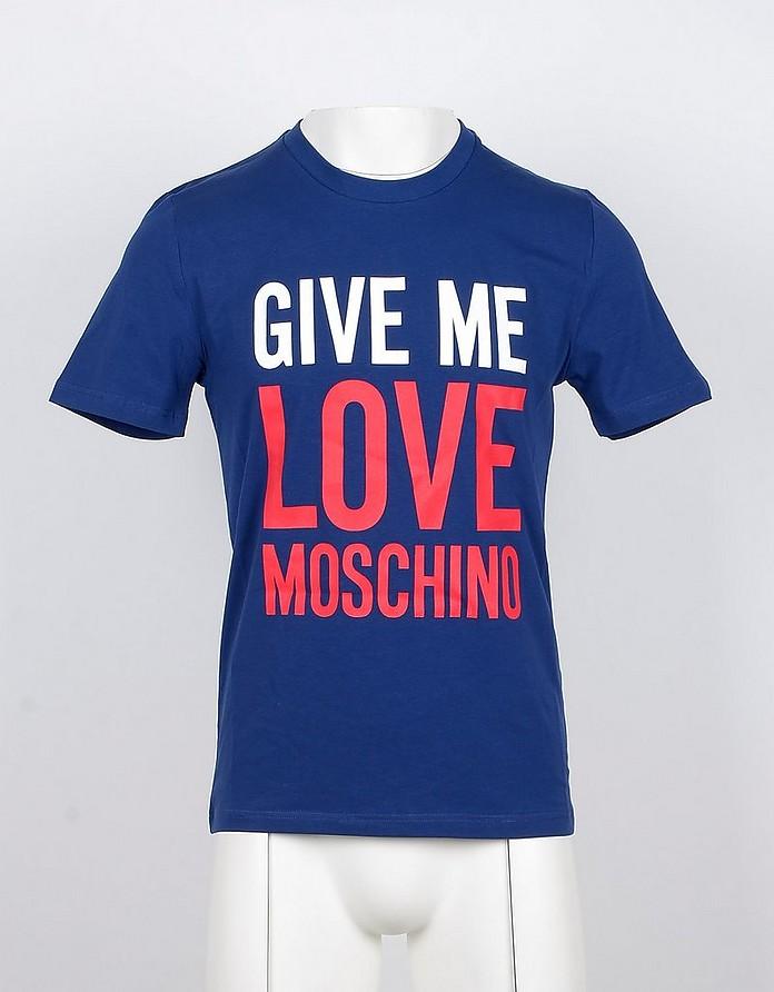 Blu Mens Tshirt - Love Moschino