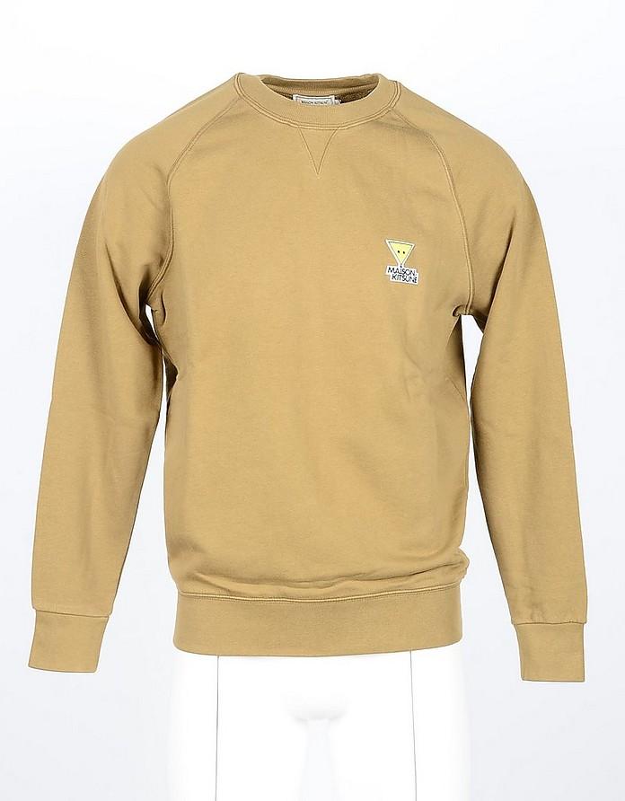 Camel Cotton Men's Sweatshirt - Maison Kitsuné