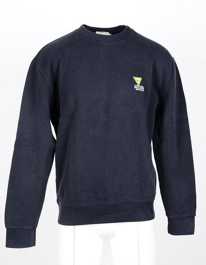 Blue Cotton Men's Sweatshirt - Maison Kitsuné