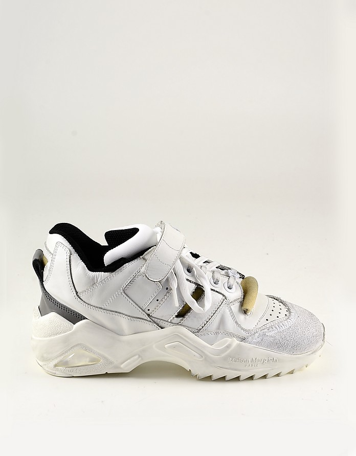 White Leather and Suede Women's Sneakers - Maison Margiela