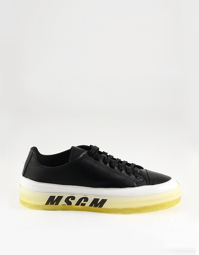 Black and White Signature Men's Sneakers - MSGM