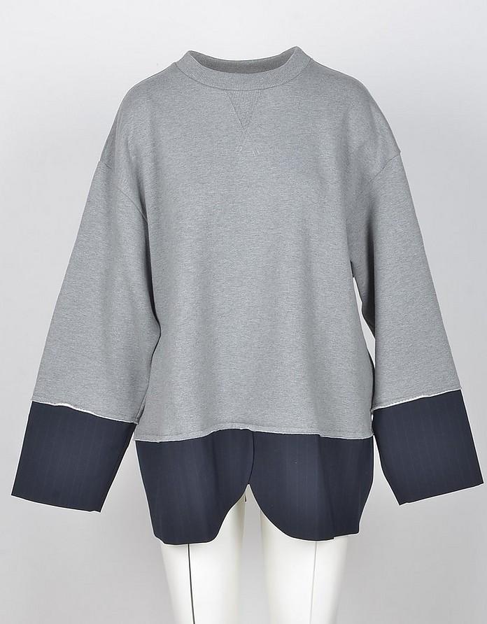 Gray Cotton Women's Sweatshirt - MM6 Maison Martin Margiela