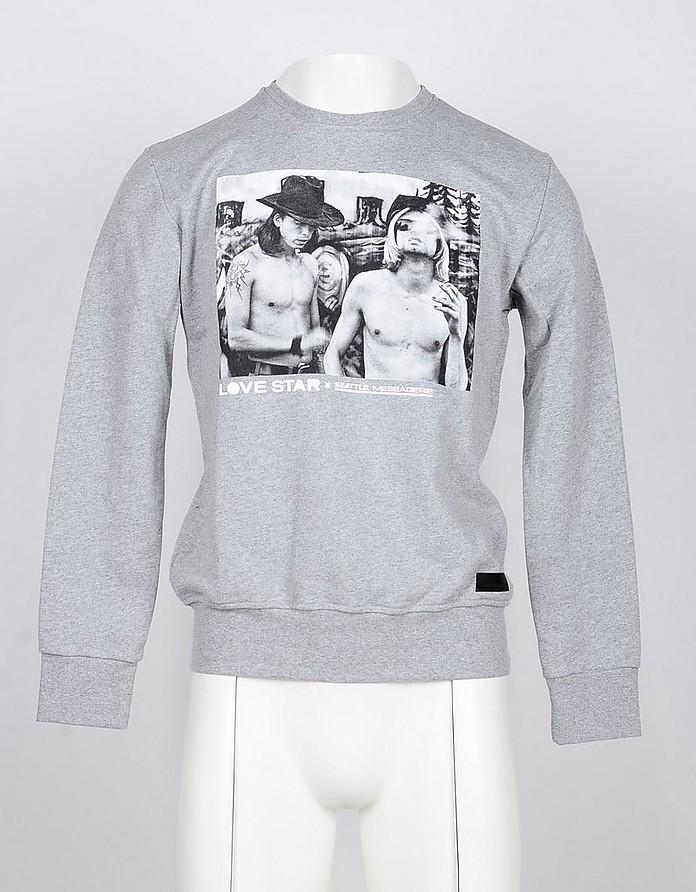 Men's Gray Sweatshirt - Messagerie