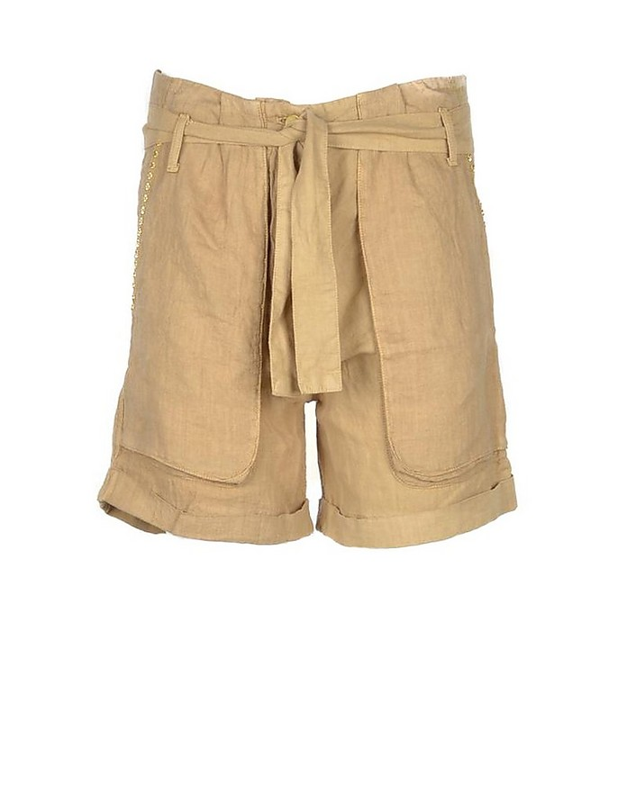 Women's Beige Shorts - Mason's