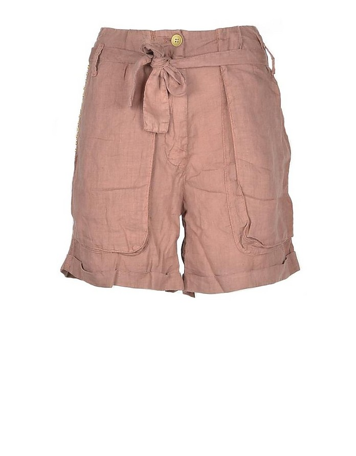 Women's Antique Pink Shorts - Mason's