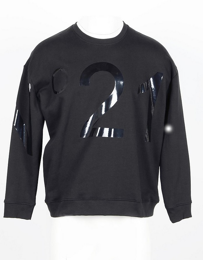 Black Cotton Men's Sweatshirt - N°21