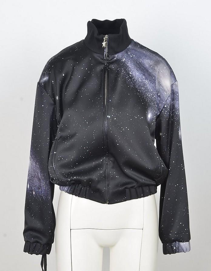 Black Universe Print Women's Sweatshirt - Pinko