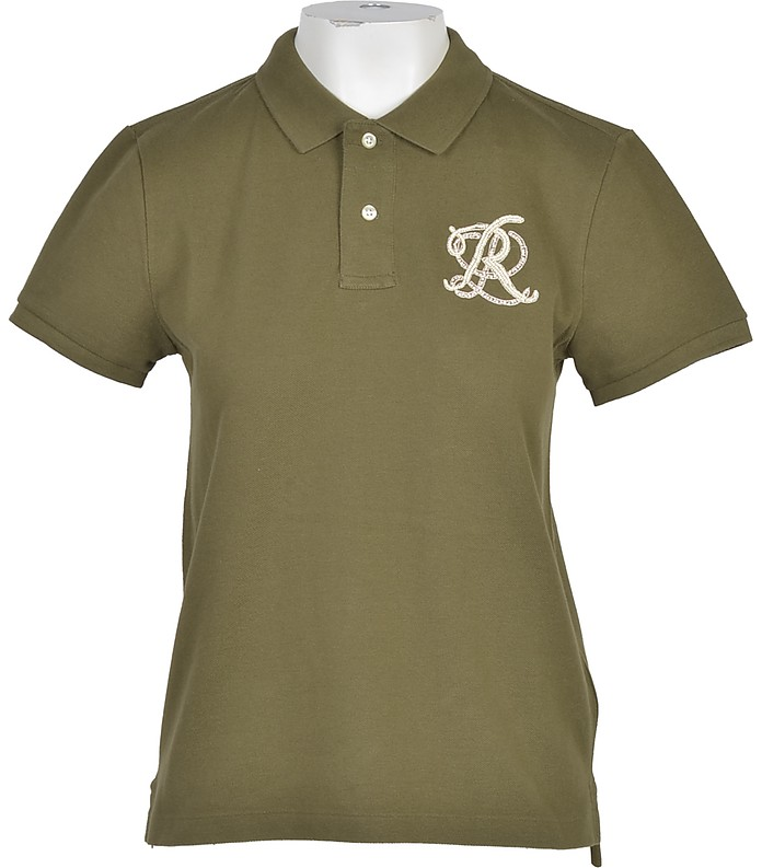Military Green Cotton Women's Polo Shirt - Ralph Lauren