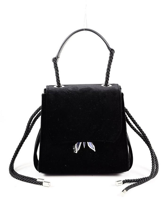 Black Leather Top-Handle Bag - Patrizia Pepe