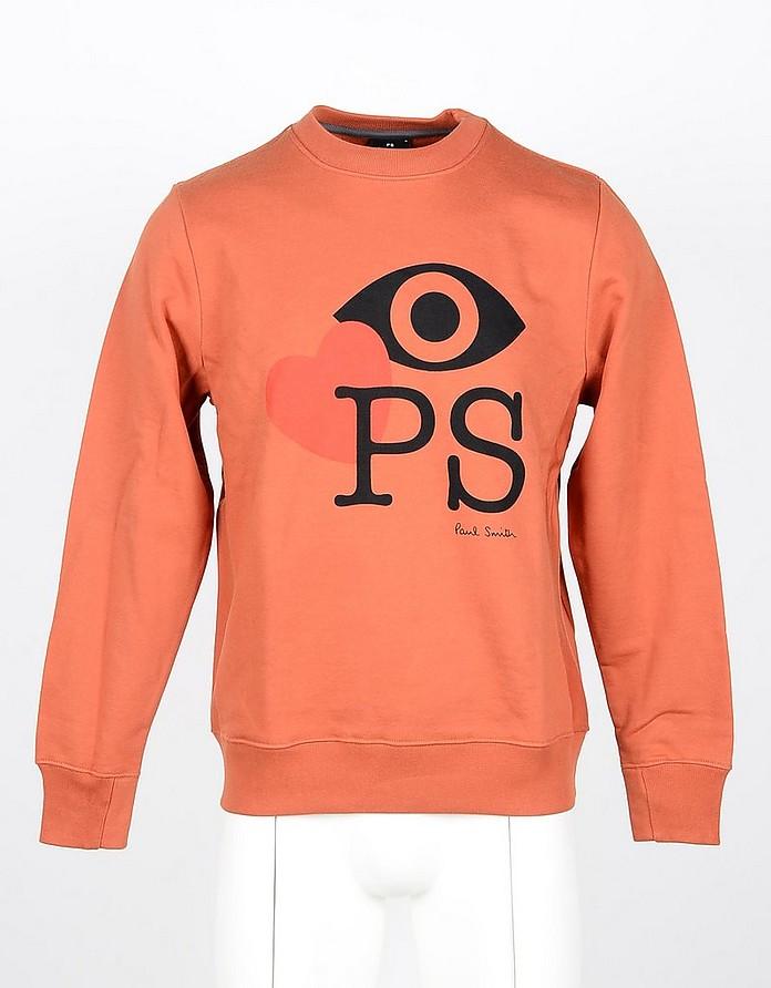 Orange Cotton Men's Sweatshirt - Paul Smith