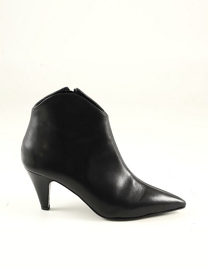 Black Leather Women's Booties - Rebecca Minkoff
