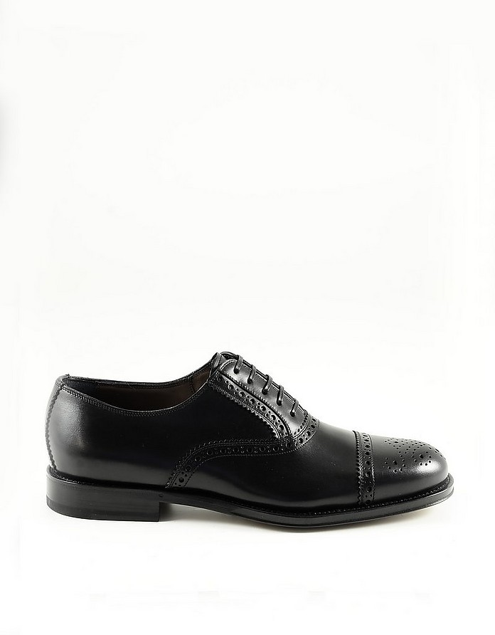 Black Leather Men's Oxford Shoes - Salvatore Ferragamo