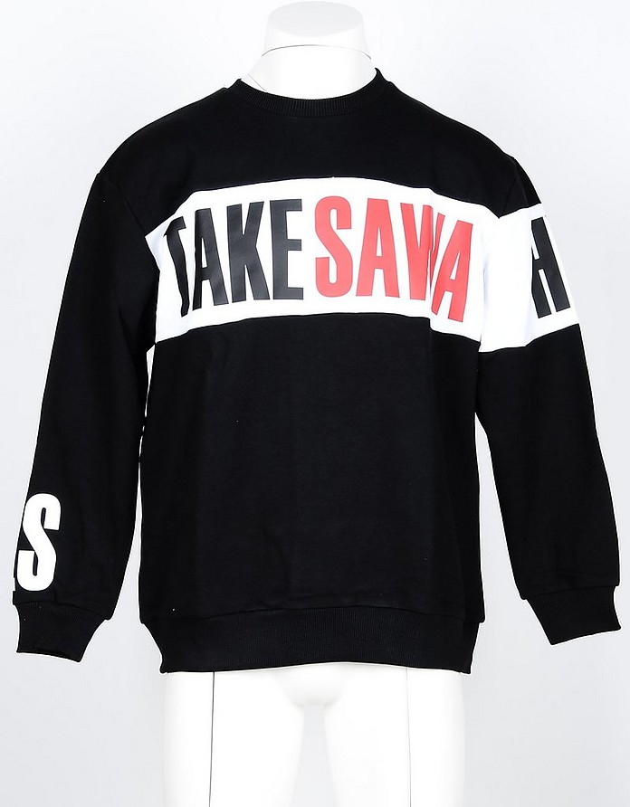 Men's Black Sweatshirt - Takeshy Kurosawa