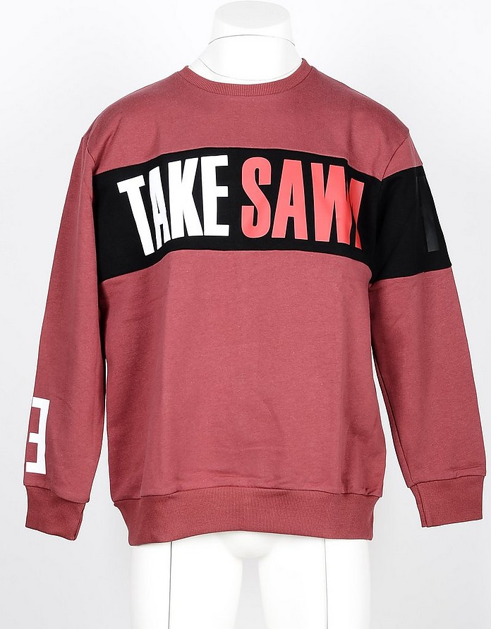 Men's Red Sweatshirt - Takeshy Kurosawa