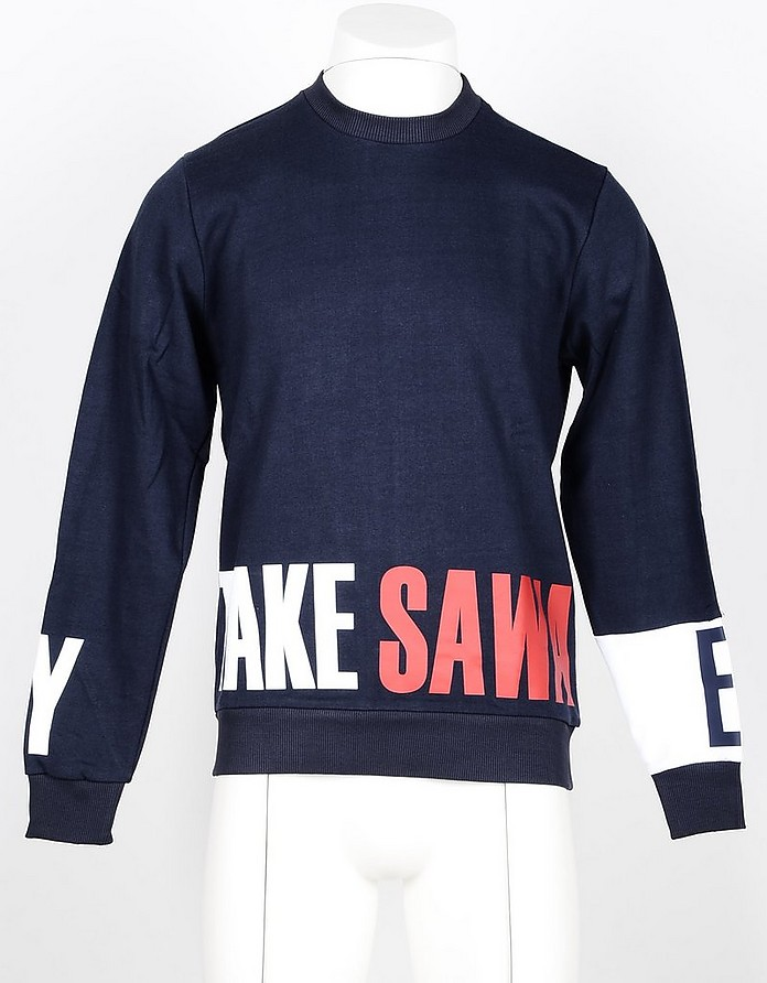 Men's Blue Sweatshirt - Takeshy Kurosawa