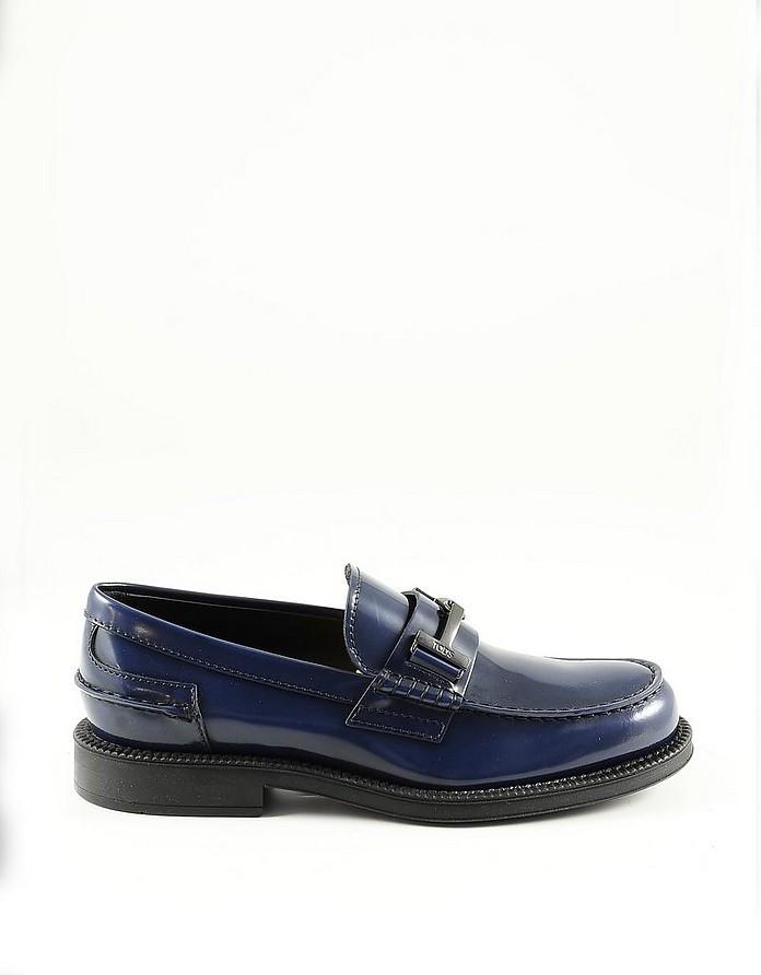 Blue Leather Men's Loafer Shoe - Tod's