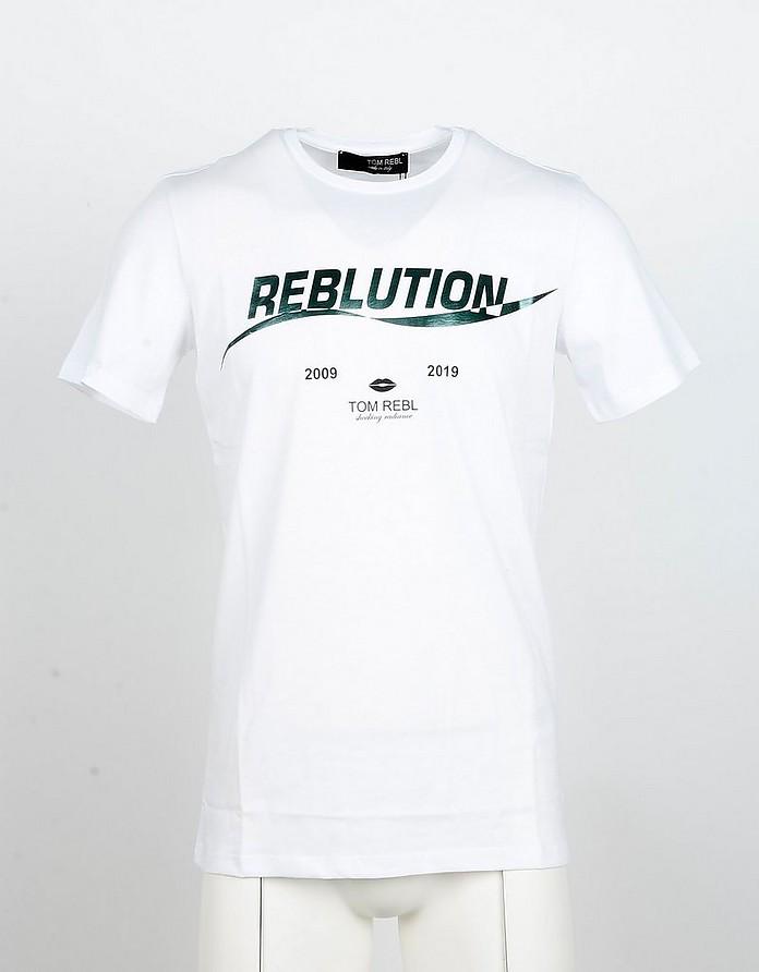 White Cotton Men's T-shirt - Tom Rebl