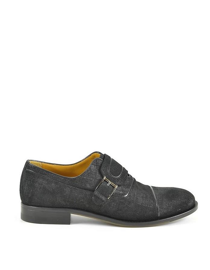 Black Men's Monk-Strap Shoes - A.Testoni