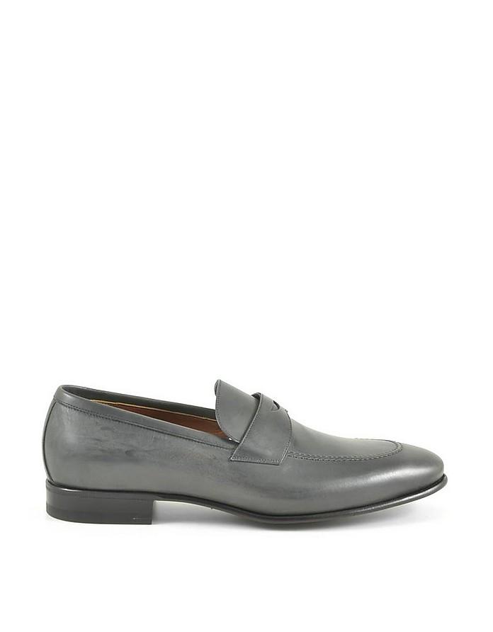 Men's Gray Loafer Shoes - A.Testoni