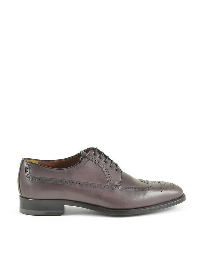 Men's Bordeaux Wingtip Derby Shoes - A.Testoni