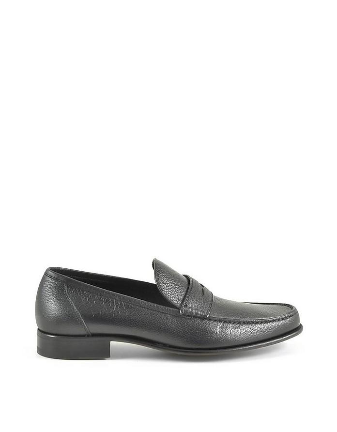 Men's Black Loafer Shoes - A.Testoni