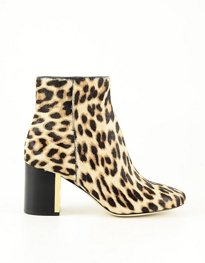 Animal Print Leather Women's Booties - Tory Burch