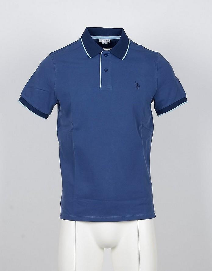 Blue Cotton Men's Polo Shirt - U.S. Polo Assn.