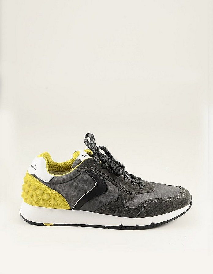Anthracite & Yellow Men's Sneakers - Voile Blanche