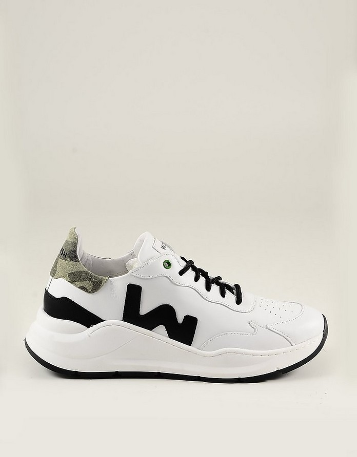White Leather Men's Sneakers - WOMSH